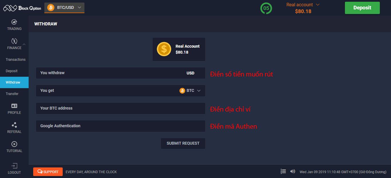 Hướng dẫn đăng ký và nạp rút trên sàn giao dịch Block Option