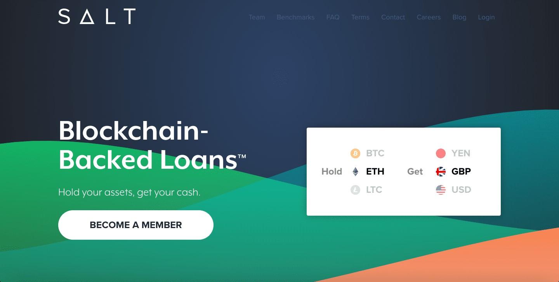 SALT Lending làmột doanh nghiệp tài chính cung cấp các khoản vay được hỗ trợ bởi công nghệ blockchain