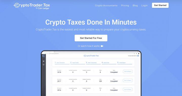 CryptoTrader.tax top 8 nền tảng quản lý thuế tiền điện tử