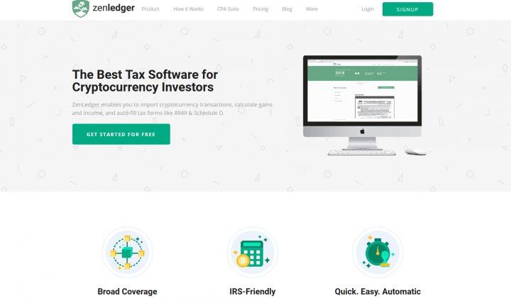 ZenLedger.io top 8 nền tảng quản lí thuế tiền điện tử