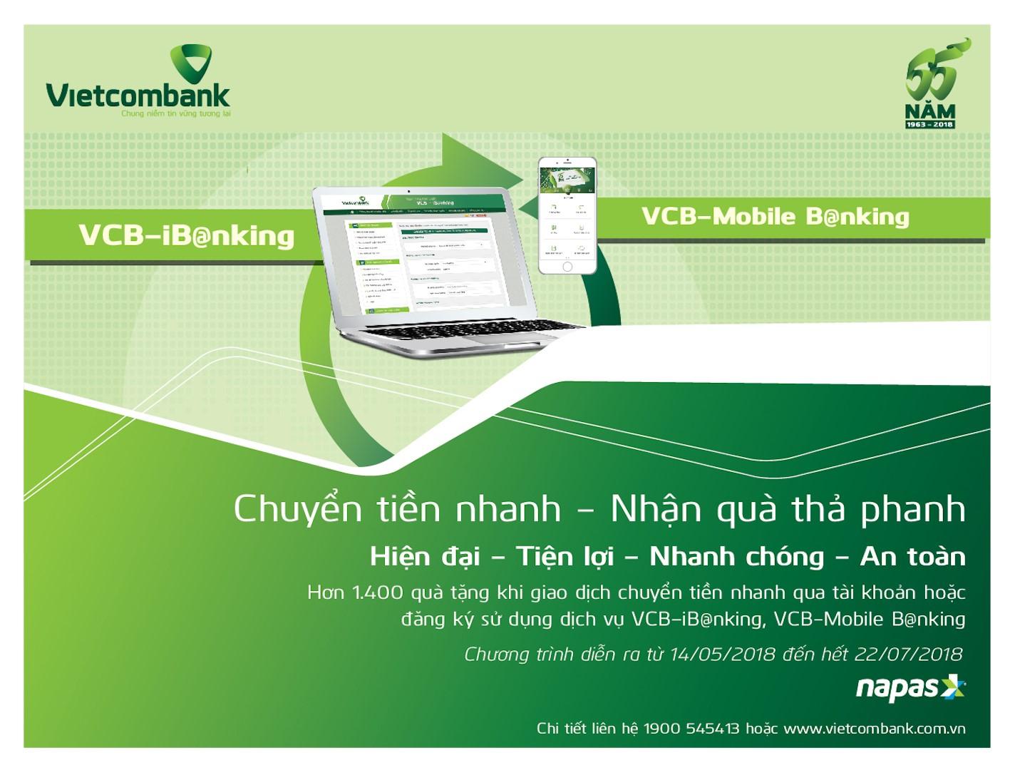 Giao dịch thuận tiện hơn với Vietcombank Internet Banking