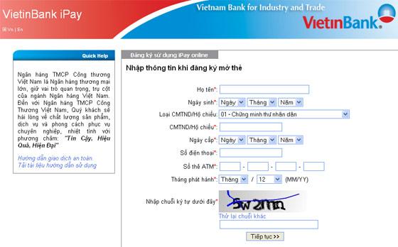 Các cách mở tài khoản Vietinbank