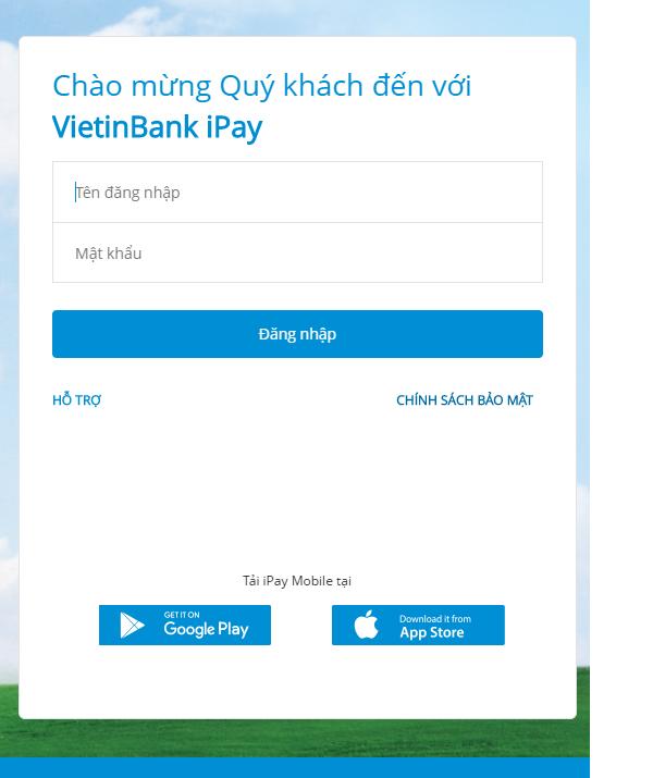 Vietinbank iPay là dịch vụ cho phép người dùng thực hiện các thao tác giao dịch gửi và nhận tiền online