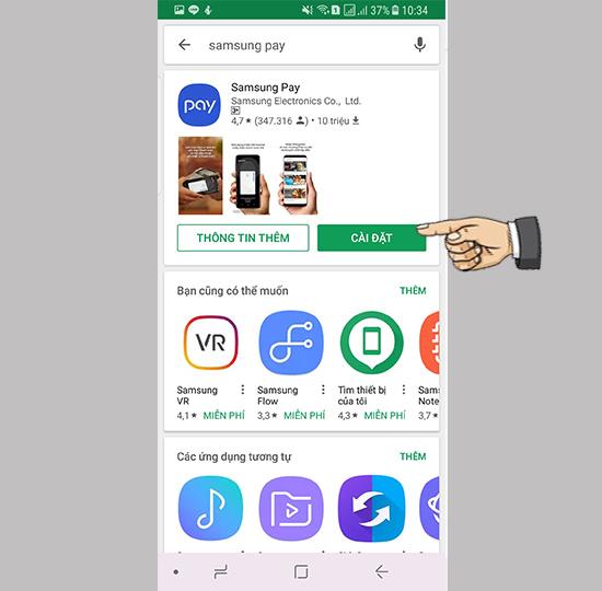 Cài đặt ứng dụng Samsung-Pay