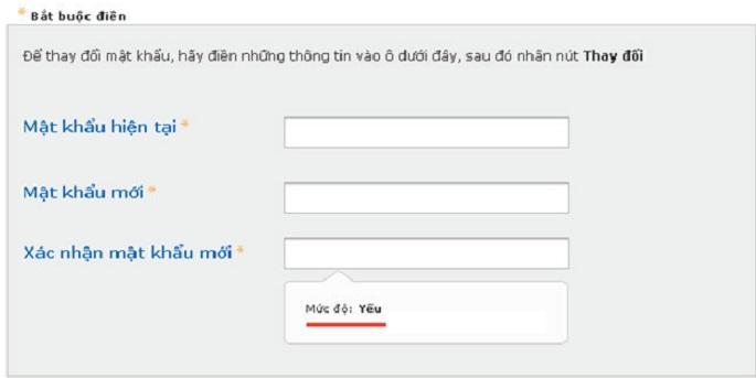 Đổi mật khẩu VIB internet banking