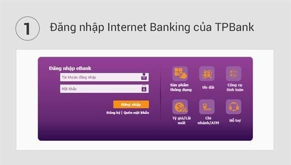 Đăng nhập TPBank eBanking của TPBank để thực hiện kiểm tra tài khoản