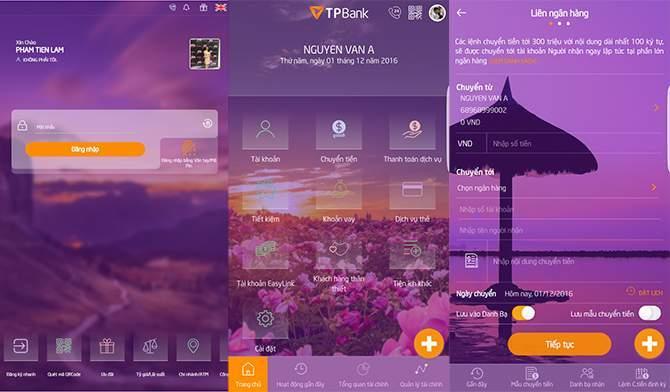 tra cứu thông tin tài khoản TPBank bằng ứng dụng Mobile Banking