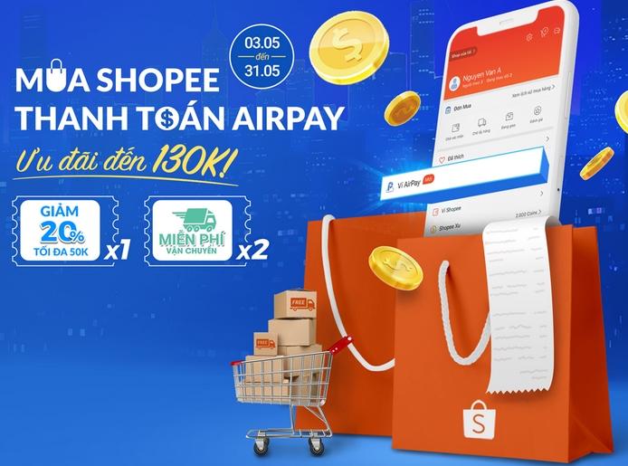 Bạn có thể thanh toán airpay trên shopee