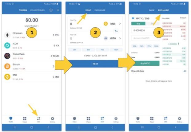 Hướng dẫn cách sử dụng tính năng Trade trên ví Trust Wallet