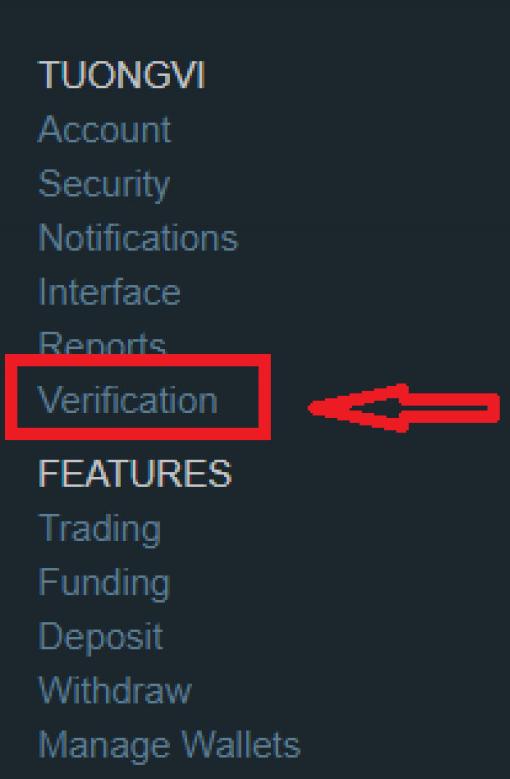 """Nhấn """"Verification"""""""
