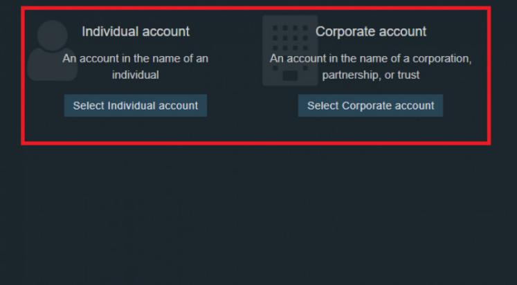 Chọn tài khoản