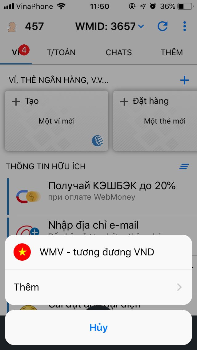 Nhấn vào WMV