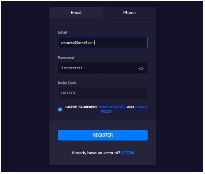 Biểu mẫu đăng ký tài khoản