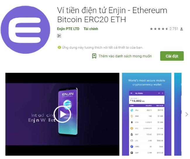 App Enjin wallet