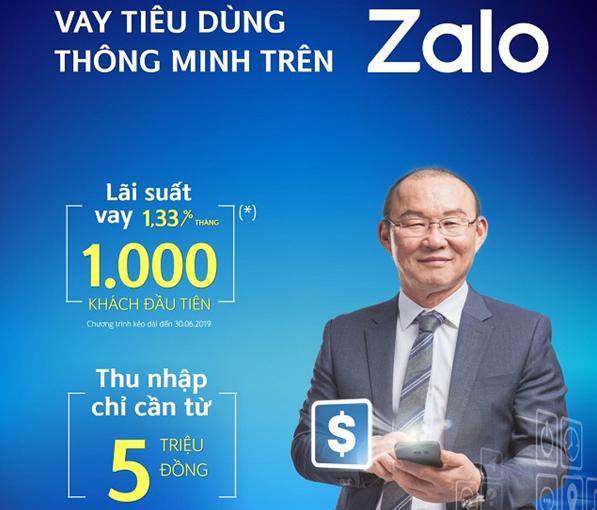 Vay tiêu dùng thông minh qua Zalo